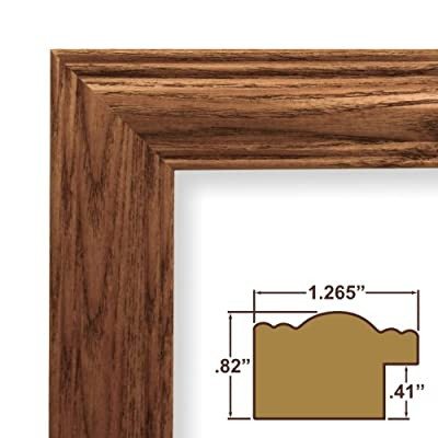 7x14 Custom Picture Frame / Poster Frame 1.265 Wide Complete Brown Wood Frame (440138)