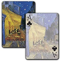 The Cafe Terrace on the Place du Forum, Arles, at Night - Single Deck Playing Cards