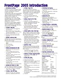Microsoft-FrontPage-2003-Introduction-Quick-Reference-GuideCheat-Sheet-of-Instructions-Tips--Shortcuts---Laminated-Card