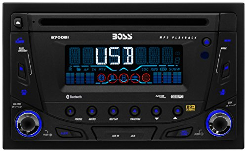 BOSS AUDIO 870DBI Double-DIN CD/MP3 Player Receiver, Bluetooth, Detachable Front Panel, Wireless Remote (2002 Nissan Frontier Accessories compare prices)