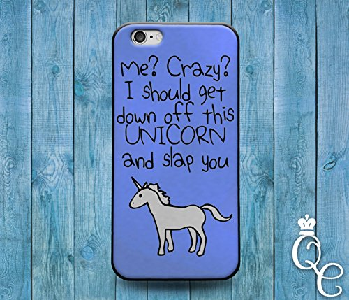 *BoutiqueHouse* iPhone 4 4s 5 5s 5c SE 6 6s plus + iPod Touch 4th 5th 6th Generation Cute Custom Blue Unicorn Quote Phone Cover Weird Funny Girl Animal Case(iPhone 5c) (Iphone 4s Custom Case compare prices)