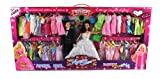 Fashion Angel 'Just Married' Toy Doll Playset, Comes w/ Bride & Groom Dolls, 40 Different Dress Outfits, Hair Brush, Mirror, Purse