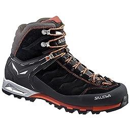 Salewa Men\'s Mountain Trainer Mid GTX Alpine Approach Shoe, Black/Indigo, 10.5 M US