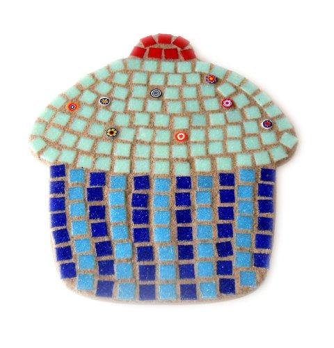 Big Mint Cupcake Mosaic Craft Kit