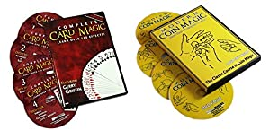 Magic DVD Set - Modern Complete Card and Coin Magic Multiple Volume Set on DVD - Teaches Over 300 Trick Effects