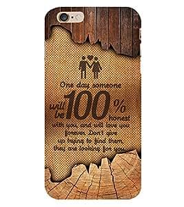 Honest Love 3D Hard Polycarbonate Designer Back Case Cover for Apple iPhone 6
