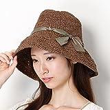 チャビーパックス(CHUBBY PUCKS) 帽子(リボン巻きエッジアップペーパーキャペリン)