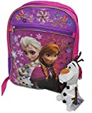 Disney Frozen Backpack - Jumping Olaf with Elsa & Anna *Includes exclusive Talking Olaf Plush