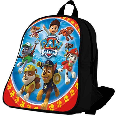 Paw Patrol Dinner Plates School Bag / Color Black / Size Large