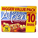 Alpen Light Summer Fruits Cereal Bar 10 Pack 210g