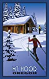 Northwest Art Mall Mt Hood Oregon Cross Country Skiers and Cabin Artwork by Paul B. Leighton, 11-Inc