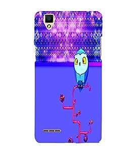 PrintVisa Stylish Cool Girl Owl 3D Hard Polycarbonate Designer Back Case Cover for Oppo F1