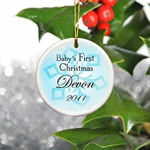 Baby Boy's First Christmas Ornament - Available in 2 Styles