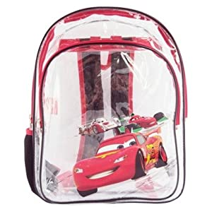 """Disney Cars Clear Transparent Backpack (16"""")"""