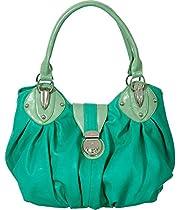 Turquoise Green Vitalio Vera Large 'Sandra' Hobo