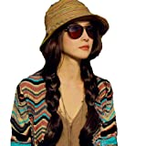 Search : NSSTAR Woman Bohemia Straw hat w/ Wide Brim Roll-up Sun Visor