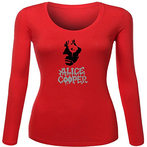 Alice Cooper Classic Printed For Ladies Womens Long Sleeves Outlet