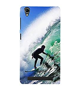 Vizagbeats Water Surfing Back Case Cover for Intex Aqua Power Plus