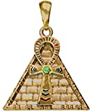 Ankh Pyramid Pendant Collectible Medallion Necklace Accessory Jewelry