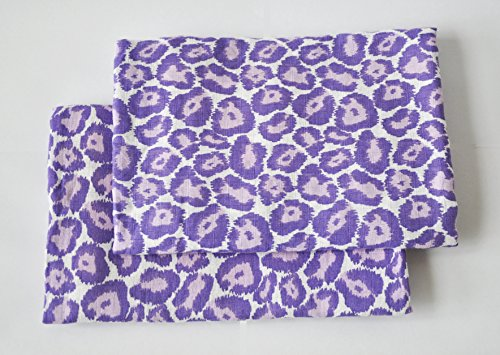 Bacati Ikat Lilac/purple Leopard 2 Pc Muslin Crib Sheets
