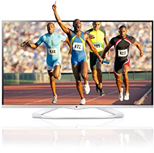 LG 50LA6678 126 cm (50 Zoll) Cinema 3D LED-Backlight-Fernseher (Full HD, 400Hz MCI, WLAN, DVB-T/C/S, Smart TV) weiß