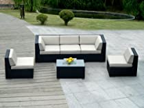 Hot Sale ohana collection PN0602 Genuine Ohana Outdoor Patio Wicker Furniture 6-Piece All Weather Gorgeous Couch Set