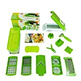 DOODEEN Vegetable and Fruit Salad Nicer Dicer Plus Multi Chopper 12 Pieces,Green by DOODEEN