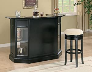 Contemporary Bar Black in Finish by Coaster