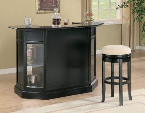 Coaster Contemporary Bar Black In Finish front-272293