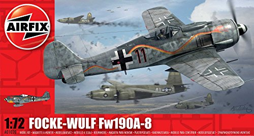 Airfix A01020 Focke Wulf Fw190A-8 Model Kit, 1:72 Scale
