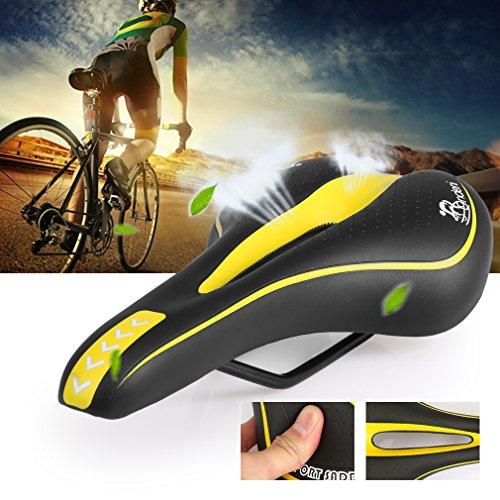 Ondeni bicicletta della bici professionale Saddle del rilievo della strada MTB del gel di comfort di seduta di 27 * 14 cm