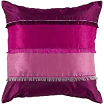 Rizzy Home T-4044 18-Inch by 18-Inch Decorative Pillows Pink/Fuschia Set of 2