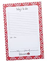 bloom daily planners Today's To-Dos Tear Off To Do Pad - Quatrefoil Planning To Do Pad - 9