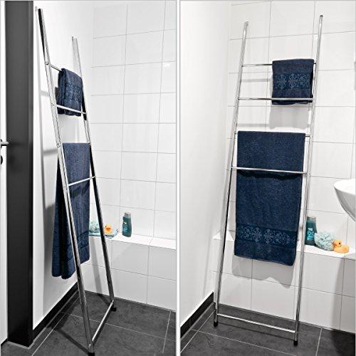 bremermann-Handtuchleiter-Handtuchhalter-mit-4-Handtuchstangen-zur-Wandmontage