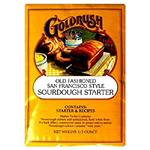 Gold Rush Old Fashioned San Francisco Style Soughdough Bread Starter, 0.5-Ounce Packets (Pack of 24)