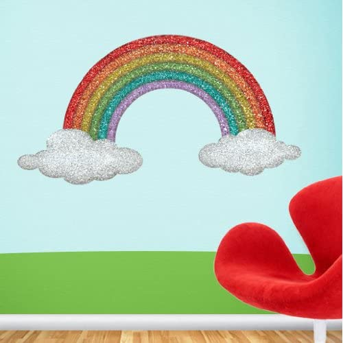 Rainbow Wall Stickers Decals - Girls Room Rainbow Wall Mural