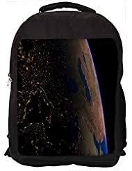 """Snoogg Earth Filled With Water Casual Laptop Backpak Fits All 15 - 15.6"""" Inch Laptops"""
