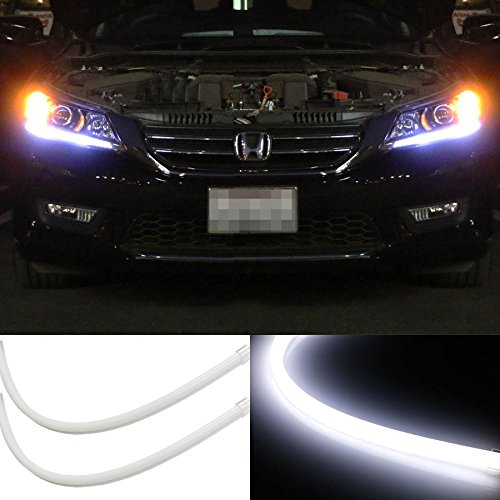 iJDMTOY (2) Even Illuminating Headlight LED Daytime Running Lights Retrofit LED Assembly For 2013-2015 Honda Accord Sedan (Led Light Strip For Headlights compare prices)