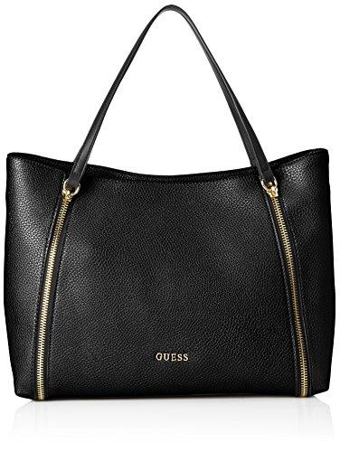 Guess Damen Angie Tote Handtaschen, Schwarz (Nero), One Size