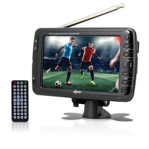 New Axess 7-Inch, LCD TV with ATSC Tuner, Rechargeable Battery and USB/SD Inputs, TV1703-7