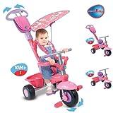 SmarTrike DX Deluxe 3-In-1 Pink Handle DLX Bike Trike Smart Trike Tricycle