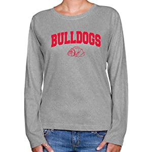 NCAA Gardner Webb Bulldogs Ladies Ash Logo Arch Long Sleeve Classic Fit T-shirt (XX-Large)