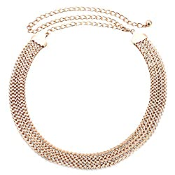 Generic Women W Shaped Rhinestone Waist Chain Belt Diamante Hip Belt Olivet Waistband
