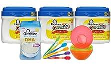buy Gerber Graduates Gentle Infant & Toddler Formula (3 Pack) With Rice Cereal & Feeding Bowl Set
