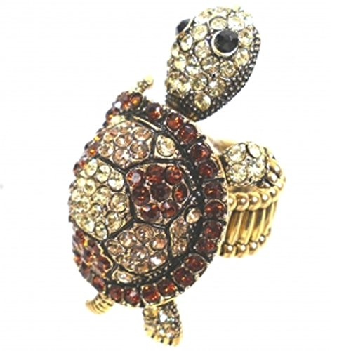 anillo-olivenholz-schildkroten-con-brillantes-en-los-coloures-de-oro-cobre