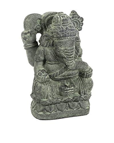 My Spirit Garden Volcanic Ash Small Ganesha Statue, Stone Patina
