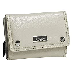 Buxton Womens Leather Westcott Mini Pouch Wallet (Taupe)