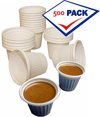 Mini disposable Cuban Style and espresso coffee cups 3/4 oz. Pack of 500 (Disposable Espresso Coffee Cups compare prices)