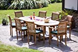 Sale This Month Only Over 65% Off HUMBER TEAK 17 PIECE GRADE A TEAK OUTDOOR DINING SET 2014 MODEL