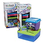Kids' Perfect Portion Kit with 10 Multi-Colored Reusable Containers